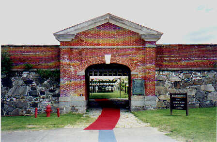 View of entrance to Fort Constitution.